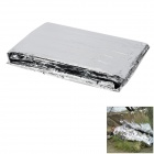 1022 Multifunctional Convenient Outdoor Compact Emergency PET Blanket for Evacuation - Silver