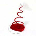 Spiral Style Plush Christmas Hat - Red + White