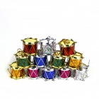 Christmas Decoration for Christmas tree - Red + Yellow + Green + Blue + Purple + Silver (12 PCS)
