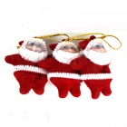 Buy Christmas Santa Claus Jr Decoration Tree - Red (3 PCS)