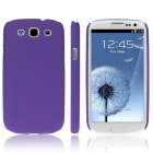 ENKAY Quicksand Style Protective Plastic Back Case for Samsung Galaxy S3 i9300 - Purple