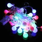 3W Christmas Flash 28-LED RGB Light Lamp String - Green + Red + Blue (110V)