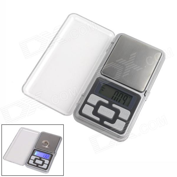 1.37 LCD Mobile Phone Type Jewelry Electronic Scale - Silver (2 x AAA) 1 5 lcd digital electronic scale 2 x aaa