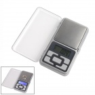 "1.37"" LCD Mobile Phone Type Jewelry Electronic Scale - Silver (2 x AAA)"