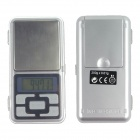 "1.37"" LCD Phone Type Jewelry Electronic Scale - Silver (2*AAA)"