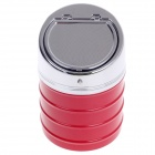635B Stylish Creative Zinc Alloy Spring Lid Ashtray - Silver + Red