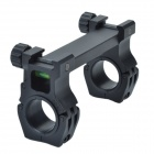 M10QD-01 30mm Caliber U-Shaped Aluminum Alloy Bracket Dual-Scope Mount - Black