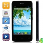 "W101 MTK6572 Dual-Core Android 4.2.2 WCDMA Bar Phone w/ 4.0"", Wi-Fi, FM and GPS - Black + Dark Blue"