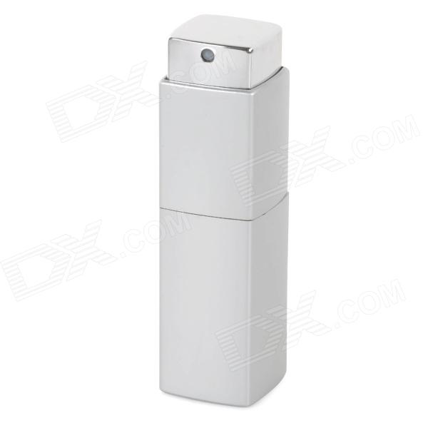 Square Rotation Portable Aluminum Alloy Perfume Spray Bottle - Silver (10mL)