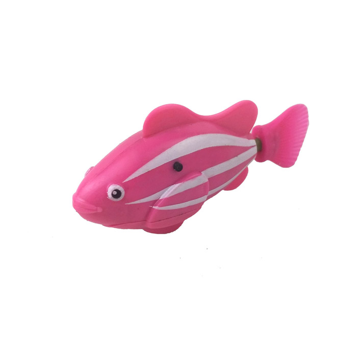 ROBO FISH Electric Pet Fish Toy - Pink + White + Red (2 x L1154) flash transparent electronic fish pet toy robot fish pink purple 2 x l1154
