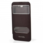 GUCEEL Protective PU Leather Case Cover Stand w/ Visual Window for Samsung Galaxy Note 2 - Brown