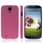 ENKAY Quicksand Style Protective Plastic Back Case for Samsung Galaxy S4 i9500 - Purplish Red