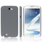 ENKAY Quicksand Style Protective Plastic Back Case for Samsung Galaxy Note 2 N7100 - Grey