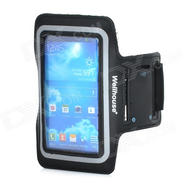 Wellhouse WH-00603 Sports Gym PU + Neoprene Armband Case for Samsung Galaxy S3 / S4 - Black