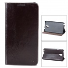 Protective Leather Case w/ Stand for Samsung Galaxy Note 3 - Brown + Black
