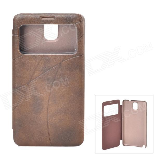 stylish pu leather sleeve pouch case for samsung galaxy note ii n7100 htc one x brown Stylish Protective PU Leather Case w/ Display Window for Samsung Galaxy Note 3 - Brown