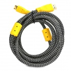 Universal HDMI Male to Mini HDMI Male HD Cable - Grey + Yellow (1.5m)