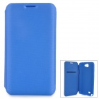 Stylish Protective PU Leather Case for Samsung N7100 - Blue