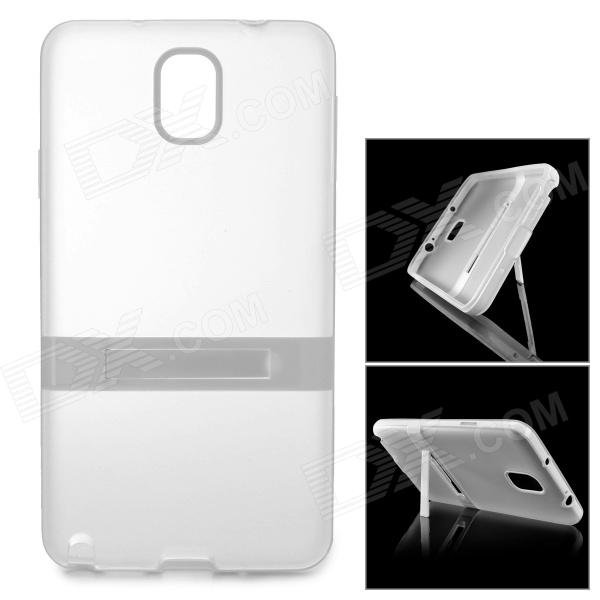 Protective TPU Back Case w/ Stand for Samsung Galaxy Note 3 N9000 / N9002 - Translucent White enkay protective tpu back case w holder stand for samsung galaxy note 3 n9000 pink