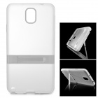 Protective TPU Back Case w/ Stand for Samsung Galaxy Note 3 N9000 / N9002 - Translucent White