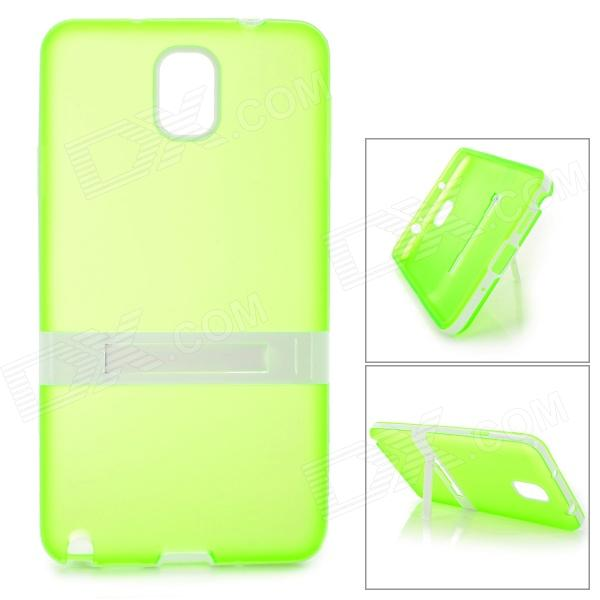 Protective TPU Back Case w/ Stand for Samsung Galaxy Note 3 N9000 / N9002 - Translucent Green enkay protective tpu back case w holder stand for samsung galaxy note 3 n9000 pink