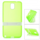 Protective TPU Back Case w/ Stand for Samsung Galaxy Note 3 N9000 / N9002 - Translucent Green