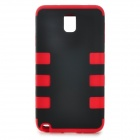 3-in-1 Protective Silicone + PC Back Case for Samsung Galaxy Note 3 - Black + Red