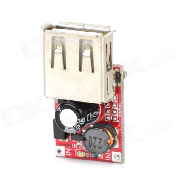 1.25~5V to 5V Li-ion Battery Booster Power Panel Module w/ USB Port - Red tp4056 1a li ion battery charging module blue 4v 8v