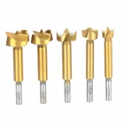 PC-5 Professional Durable T10 Steel Carpenter Drill Hole Puncher Tool - Golden + Silver (5 PCS)