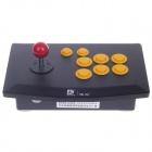 DILONG PU702 Wired USB Street Fighter Joystick Controller for PC - Black + Yellow + Red