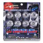 8-LED Vehicle Waterproof Decoration/Signal Lamp Bulbs (12V White 2-Pack)