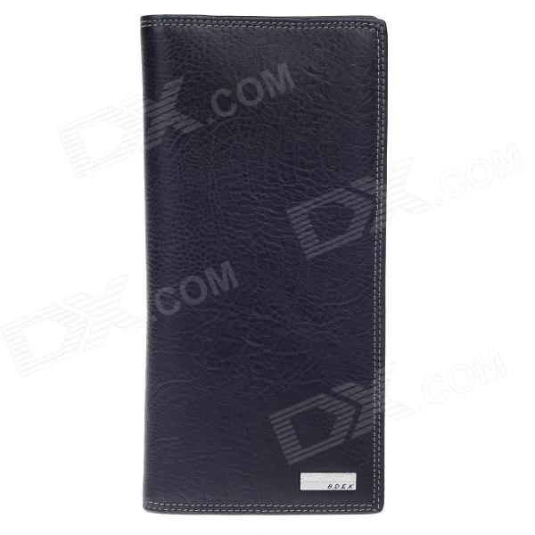 BEIDIERKE B023-826 High-Grade Men's Head Layer Cowhide Long Wallet - Black