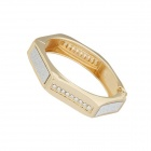 Euramerican Metallic Dominate Polygon Women's Bracelet - Silver + Golden
