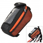 YANHO YA076 Cycling Polyester + PVC Bike Top Tube Bag for Cellphone / GPS + More - Orange + Black