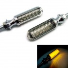 exLED 4.8W 288lm 590nm 12-LED Yellow Motorcycle Turn Signal / Indicator Light - (2 PCS / 12V)