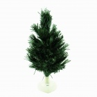 PZCD PZ-02 7-Color Flash LED 33cm Optical Fiber Lighting Desktop Christmas Tree - Green (3 x LR1130)