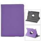 Protective 360 Degree Rotation Fiber Leather + Plastic Case w/ Auto Sleep for Ipad AIR - Purple