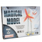 Iron Commander SM146724 DIY Ferroalloy Assembled Small Windmill - Silver + Yellow + Red