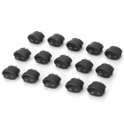 JiaHui A053 Oval Shaped 10A Push On / Off Switches - Black (15 PCS)