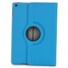Protective 360 Degree Rotation Fiber Leather + Plastic Case w/ Auto Sleep for Ipad AIR - Blue