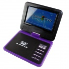 "FJD-760 Portable 7"" LCD Mobile DVD Player w/ TV, FM, Card Reader, Game and USB - Purple"