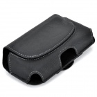 i9500-BK-L Durable Convenient Belt Mount Leather Case for Samsung i9500 / i9250 - Black