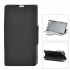 A006-2 Stylish Protective PU Leather Case for Sony Z1 - Black