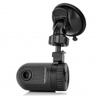 "Mini GS608 1.5"" TFT LCD 5.0 MP CMOS 1080P Wide Angle Lens Car DVR w/ HDMI / G-sensor / TF - Black"