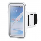 Sports Gym Neoprene Armband Case for Samsung Galaxy Note 3 N9000 - White + Black + Grey