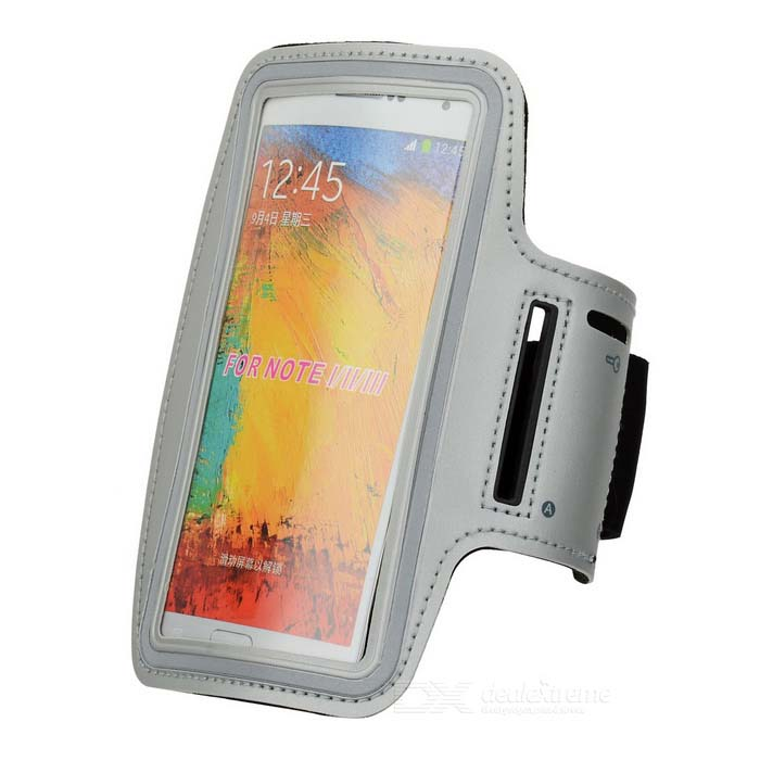 Sports Gym Neoprene Armband Case for Samsung Galaxy Note 3 N9000 - Silver + Grey + Black