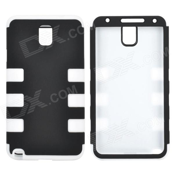 все цены на Detachable 3-in-1 Protective Silicone + PC Back Case for Samsung Galaxy Note 3 - Black + White онлайн