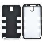 Detachable 3-in-1 Protective Silicone + PC Back Case for Samsung Galaxy Note 3 - Black + White