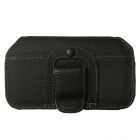 Protecção Genuine Leather Case w / Belt Clip para Samsung Galaxy S3 i9300 - Preto