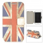 Retro UK National Flag Pattern Protective Flip Open Case w/ Stand for Samsung S4 9500 - Blue + Red